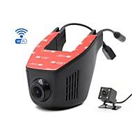Недорогие Видеорегистраторы для авто-A5-B HD 1280 x 720 / 1080p Автомобильный видеорегистратор 140° Широкий угол Нет экрана (выход на APP) Капюшон с IOS APP / Android APP /