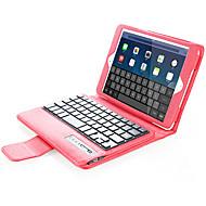 Para Carcasa Funda con Soporte con Teclado Flip Cuerpo Entero Funda Color sólido Dura Cuero Sintético para AppleiPad Mini 4 Mini iPad