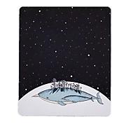 voordelige -Miss Little Star Whale Art Verse illustratie muismat natuurlijk rubber doek 20 * 23.8