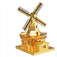 cheap Toys & Hobbies-3D Puzzles Jigsaw Puzzle Metal Puzzles Windmill Windmill Architecture 3D DIY Aluminium Metal Classic 6 Years Old and Above