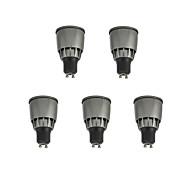お買い得  LED スポットライト-5個 7W 780lm GU10 LEDスポットライト 1 LEDビーズ COB 装飾用 温白色 / クールホワイト 85-265V