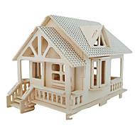 cheap Toy & Game-3D Puzzles Jigsaw Puzzle Wood Model Model Building Kit Famous buildings Furniture House Architecture 3D Simulation DIY Wood Classic Unisex