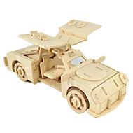 abordables Maquetas y Juguetes de Construcción-Coches de juguete Puzzles 3D Puzzle Maquetas de madera Aeronave Coche Caballo 3D Manualidades Madera Clásico Chico Unisex Regalo