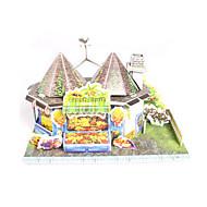 halpa Harrastukset-3D palapeli Palapeli Paperimalli Pienoismallisetit Talo Arkkitehtuuri Fruit 3D DIY Korkealaatuinen paperi Klassinen Tyttöjen Poikien