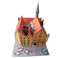 cheap Toys & Hobbies-3D Puzzles Paper Model Model Building Kits Paper Craft Famous buildings Architecture 3D DIY Classic 6 Years Old and Above