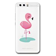 お買い得  携帯電話ケース-ケース 用途 Huawei社P9 Huawei社P9ライト Huawei社P8 Huawei Huawei社P9プラス Huawei社P8ライト クリア パターン バックカバー フラミンゴ ソフト TPU のために P10 Plus P10 Huawei P9 Plus