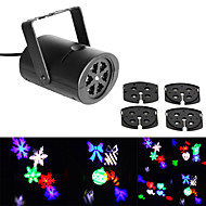 Jiawen 3W 4 Patterns RGB LED Stage Effect Light Laser Projector for Xmas Christmas Party Disco DJ Bar Club KTV Lamp LED Logo light