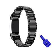 Urrem for Fitbit Charge 2 Fitbit Sportsrem Rustfrit stål Håndledsrem