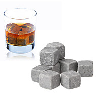set van 9 whisky ijs steen kubieke ijzige wijn steen met etui, 10 * 10 * 2 cm