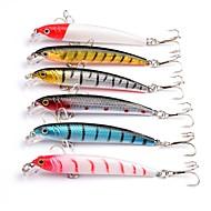 お買い得  釣り用アクセサリー-6 個 ハードベイト ミノウ ルアーパック ルアー ルアーパック ミノウ ハードベイト プラスチック 海釣り ベイトキャスティング スピニング 川釣り ルアー釣り バス釣り