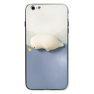 Para el iphone 7 más el caso duro blando de la cubierta posterior del patrón de la cubierta del caso 7 de acrílico duro duro para el