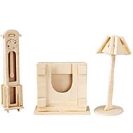 preiswerte Spielzeuge & Spiele-3D - Puzzle Holzpuzzle Holzmodelle Flugzeug Berühmte Gebäude Möbel Architektur 3D Heimwerken Holz Klassisch Unisex Geschenk