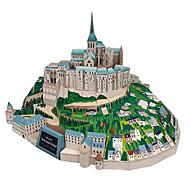 cheap Toys & Hobbies-3D Puzzles Paper Model Model Building Kits Square Famous buildings Architecture DIY Hard Card Paper Classic All Ages