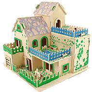 preiswerte Spielzeuge & Spiele-3D - Puzzle Holzpuzzle Holzmodelle Modellbausätze Berühmte Gebäude Haus Heimwerken Holz Klassisch Unisex Geschenk