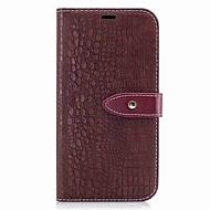 Недорогие Чехлы и кейсы для Galaxy A3(2017)-Кейс для Назначение SSamsung Galaxy A5(2017) A3(2017) Бумажник для карт Кошелек Флип Магнитный Чехол Сплошной цвет Твердый Кожа PU для A3