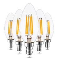cheap LED Candle Lights-4W E12 LED Candle Lights C35 4 leds COB Decorative Dimmable Warm White 300-400lm 2800-3200K 110 AC 110-130V