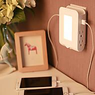 abordables Cargadores USB-Cargador usb 2 puertos Estación de cargador de escritorio Apagado Autmático Con mando de alambre Con puerto USB USA Adaptador de carga