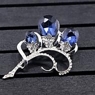 Dame Nåler Syntetisk Diamant Blomster Blomstret Legering Blomsterformet Dyreformet Smykker Til Bryllup Fest Spesiell Leilighet Fest &
