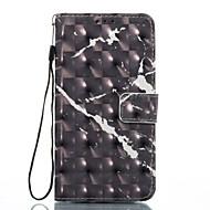 Для samsung galaxy a3 (2017) a5 (2017) чехол для случая с черным мраморным рисунком 3d окрашенный карточный стент кошелек для телефона для