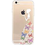 Назначение iPhone X iPhone 8 Чехлы панели Прозрачный С узором Задняя крышка Кейс для Композиция с логотипом Apple Соблазнительная девушка