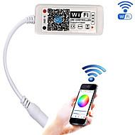 halpa RGB-ohjaimet-Päivitetty Wi-Fi-langaton LED-ohjain rgb: lle led-nauhat valaistus ja android / ios-matkapuhelin16 miljoonaa väriä 20 dynaamista tilaa