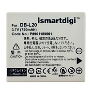 ismartdigi dbl20 camera batterij 720 mah 3,7 v voor sanyo xacti vpc - ca9 en meer