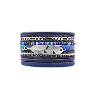Жен. Кожаные браслеты Бижутерия Мода Богемия Стиль По заказу покупателя Кожа Бижутерия НазначениеСвадьба Другое Повседневные Для
