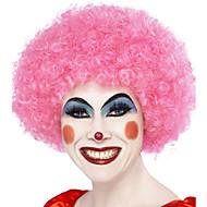 Недорогие Парики из искусственных волос-Парики из искусственных волос Без шапочки-основы Средний Кудрявые Красный Парик в афро-американском стиле Для темнокожих женщин Парики