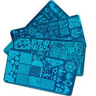 20 Nagel stempelen Afbeelding sjablionen platen stamper schraper