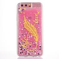 Чехол для huawei p10 p10 plus чехол крышка перья рисунок tpu материал капля флэш-порошок поток песок мобильный телефон чехол для huawei