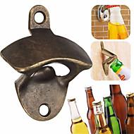 Wall Beer Opener Metal Retro Wall-Mounted Bottle Opener Wall Opener Kitchen Party Supplies --1pcs