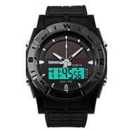 abordables Relojes Digitales-Hombre Reloj Deportivo Digital Resistente al Agua LED PU Banda Encanto Negro
