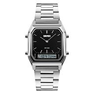 Недорогие Фирменные часы-SKMEI Муж. Наручные часы Кварцевый Повседневные часы Нержавеющая сталь Группа Аналого-цифровые Кулоны Мода Серебристый металл - Черный Серебряный Синий Два года Срок службы батареи / Maxell626 + 2025