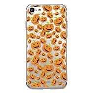 Voor iphone 7plus case cover transparant patroon achterkant hoesje tegel halloween lachend gezicht zacht tpu voor iphone 7 6splus 6plus 6s