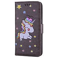 Кейс для Назначение SSamsung Galaxy A5(2017) A3(2017) Бумажник для карт со стендом Флип С узором Чехол единорогом Сияние и блеск Твердый