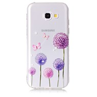 voordelige Galaxy A5(2016) Hoesjes / covers-hoesje Voor Samsung Galaxy A5(2017) A3(2017) Transparant Patroon Achterkant Vlinder Paardebloem Zacht TPU voor A3 (2017) A5 (2017)