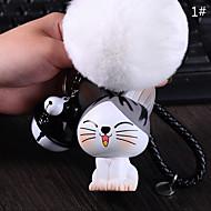 Doboz / Telefon / Kulcstartó Száncsengő Cartoon Toy Fur Ball Phone szíj PVC