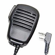 お買い得  -防音2ピンショルダーリモートスピーカーマイクマイクロホンポットケンウッドwouxun puxing baofeng双方向ラジオ2ピン用