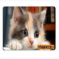 お買い得  マウスパッド-maikouマウスパッドの猫は眼鏡のPCマットコンピュータの付属品を着用