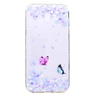 Case For Samsung Galaxy J7 2017 J5 2017 Case Cover Butterfly Flowers Pattern TPU High Purity Translucent Soft Phone Case For J3 2017 J710 J510 J310 J3