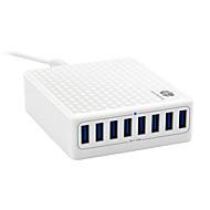 Încărcător USB 8 porturi Stație încărcător de birou Cu identificare inteligentă Adaptor de încărcare
