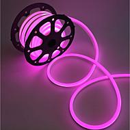 billige LED-stribelys-Fleksible LED-lysstriber 240 lysdioder Varm hvid Hvid Lyserød Grøn Gul Blå Rød Chippable Vandtæt Koblingsbar 220V