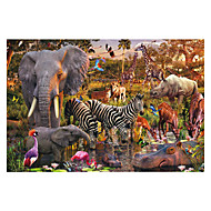 cheap Toys & Hobbies-Jigsaw Puzzle Toys Others Elephant Bird Castle Bull Famous buildings Horse Architecture Star Wooden Wood Unisex Pieces