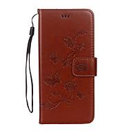 Kılıf Na Samsung Galaxy S8 Plus S8 Portfel Etui na karty Z podpórką Flip Wytłaczany wzór Wzór Magnetyczne Futerał Motyl Kwiaty Twarde