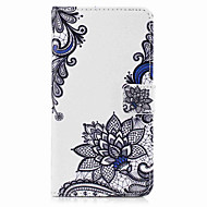 Недорогие Чехлы и кейсы для Galaxy S8-Кейс для Назначение SSamsung Galaxy S8 Plus S8 Бумажник для карт Кошелек со стендом Флип С узором Чехол Цветы Твердый Искусственная кожа