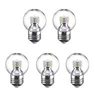 お買い得  LED ボール型電球-5個 3W 250lm E27 LEDボール型電球 G45 24 LEDビーズ SMD 2835 温白色 クールホワイト 220V