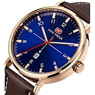 Men's Quartz Wrist Watch / Sport Watch Calendar / date / day / Creative / Cool Genuine Leather Band Charm / Luxury / Casual / Elegant /