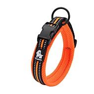 お買い得  -犬 カラー アンチスリップ 反射 高通気性 安全用具 調整可能 ソリッド ネット ナイロン ブラック オレンジ イエロー フクシャ ブルー