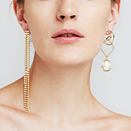 cheap Editor's Picks-Women's Synthetic Diamond Mismatched Long Drop Earrings - Statement, Personalized, Luxury Gold / Silver For Christmas Gifts Anniversary Event / Party