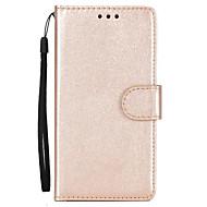 Недорогие Чехлы и кейсы для Huawei Honor-Кейс для Назначение Huawei Кошелек / Бумажник для карт / со стендом Чехол Однотонный Твердый Кожа PU для P10 Plus / P10 Lite / P10